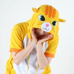 반팔 동물잠옷 고양이 (옐로우)