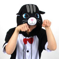 반팔 동물잠옷 고양이 (블랙)