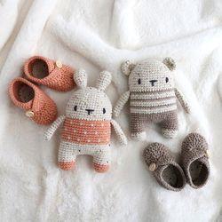 램스울 코바늘 인형 아기신발 DIY 세트