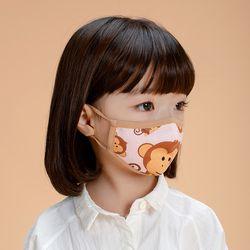 유아 어린이 KC 필터 오가닉 입체 마스크 모니
