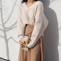Yoghurt v-neck knit(울20)