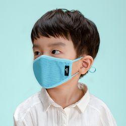 유아 어린이 KC 필터 오가닉 입체 마스크 샤키 블루