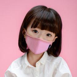유아 어린이 KC 필터 오가닉 입체 마스크 라비 핑크