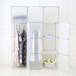 DIY 옷걸이 12D 수납장 (투명)