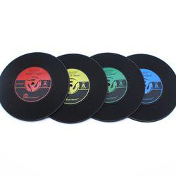 유니크 레코드 컵받침 2p