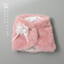 보드라미 털 배자 (핑크)
