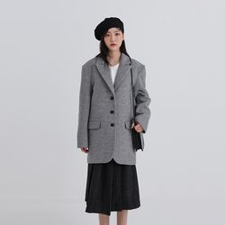 tranquil check jacket (2colors)