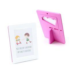 EVA 안전액자- 컬러풀 메모리즈 커비액자 (4x6)핑크