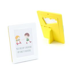 EVA 안전액자- 컬러풀 메모리즈 커비액자 (4x6)옐로우