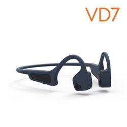 생활지능 골전도 블루투스 헤드셋 이어폰 넥밴드형 VD7 (blue)