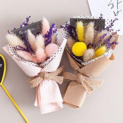 볼라그라스꽃다발 15cm(미니 조화 꽃다발)