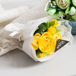 동글동백꽃다발 15cm