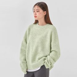 thick pastel round knit