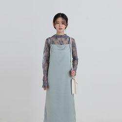 flower lace mesh blouse (3colors)