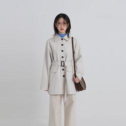 midi belt trench coat (2colors)