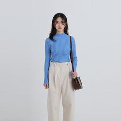 half neck slim golgi knit (5colors)