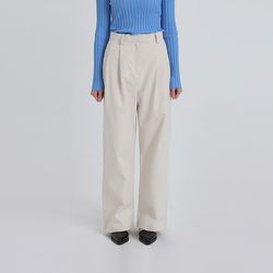 wide straight pintuck pants (2colors)
