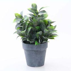 화분조화-네이비잎