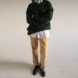basic straight corduroy pants (2colors)