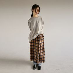 check pattern wrap skirt (2colors)