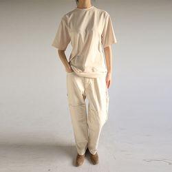 cozy detail cotton pants (2colors)