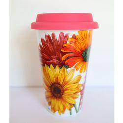 세라믹텀블러-daisies