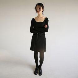 cutting wool mini skirt (3colors)