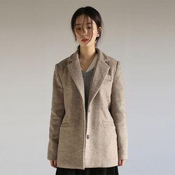 herringbone single beige jacket