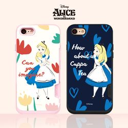 디즈니 앨리스 핑크카드범퍼(2디자인)(아이폰6 7 8 7+ 8+)