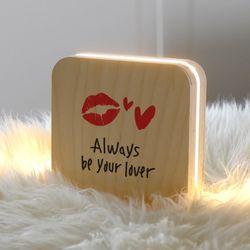 발렌타인 이색선물 샌드위치 무드등 캘리 주문제작