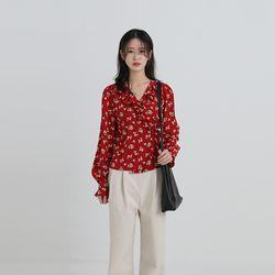 bright flower lap blouse (2colors)