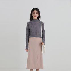 half neck crease blouse (4colors)