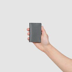 로터프 LO-9005 GR 카드지갑 그레이 가죽 남성
