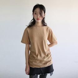 wool texture half t-shirt (3colors)