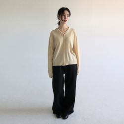 banding warm wide pants (2colors)
