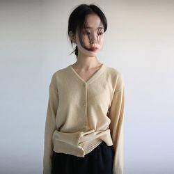 basic color v-neck cardigan (5colors)
