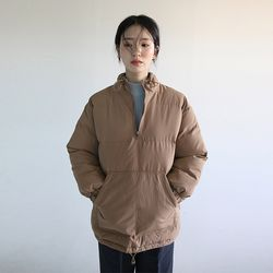 bottom string padding anorak (2colors)