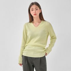 fresh v-neck wool knit