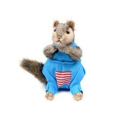 7525 옷입은 다람쥐인형(회색) 25cm.L