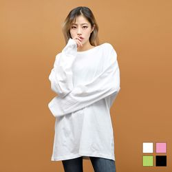 2403 베라 레터링 긴팔 티셔츠 (4colors)
