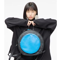 [슈퍼문디자인 Circle hole -  B   써클홀 블루 백팩 ]