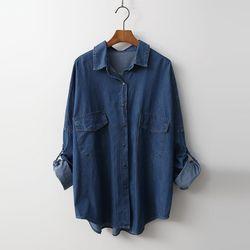 Boxy Denim Shirts