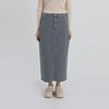 street denim long skirt (2colors)