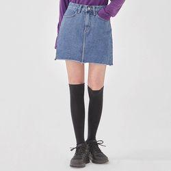 leader cutting denim skirt (s m l)