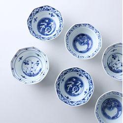 일본 단무지 팔각접시