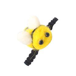 한땀한땀 펠트머리끈 ver 미니 꿀벌
