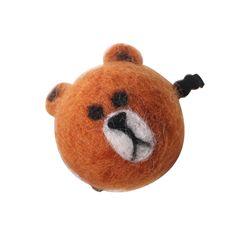 한땀한땀 펠트머리끈 ver 빅 베어 브라운 큰 곰