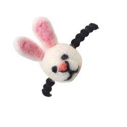 한땀한땀 펠트머리끈 ver 미니 토끼