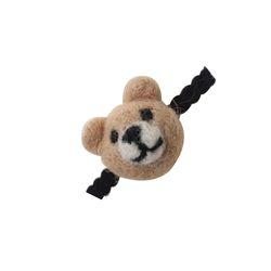 한땀한땀 펠트머리끈 ver 미니 베어 작은 곰