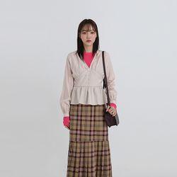 banding v-neck volume blouse (2colors)